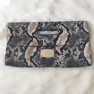 Nine West animal print clutch, good condition